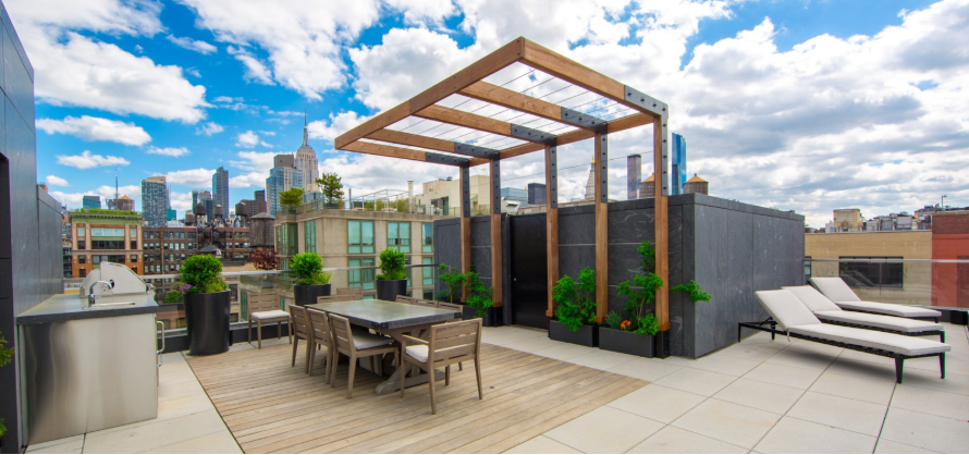 new york rooftop oasis